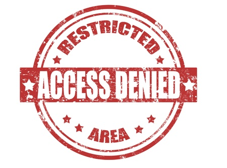 access denied: Grunge rubber stamp with word access denied