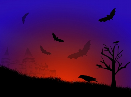 deadman: Halloween night background