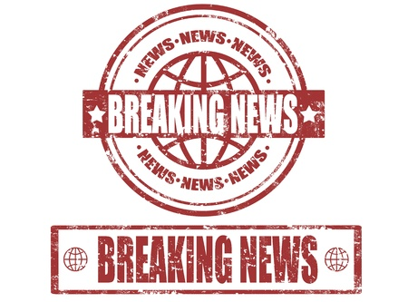 Set of grunge rubber stamps with word breaking news inside,vector illustration Stock Vector - 17499097