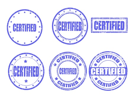 Set of grunge rubber stamps with word certified inside,vector illustration Stock Vector - 17703360