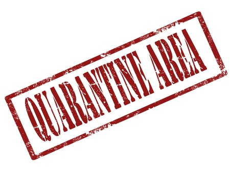 quarantine: Grunge rubber stamp with word quarantine inside,vector illustration
