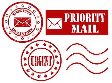 Set of grunge rubber stamp with word urgent inside,vector illustration Stock Vector - 17976094