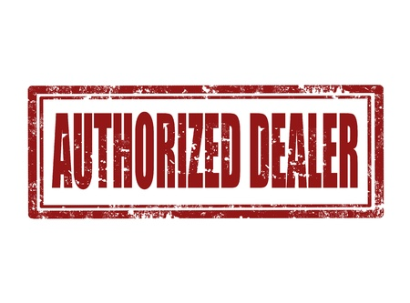 authorized: Grunge rubber stamp with text authorized dealer inside , illustration Illustration