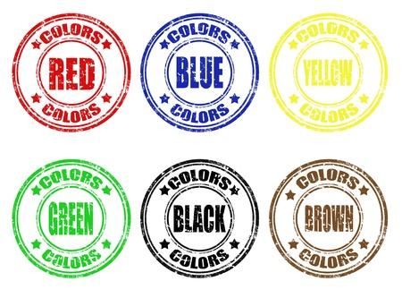 Set of grunge rubber color stamps,vector illustration Stock Vector - 18221138