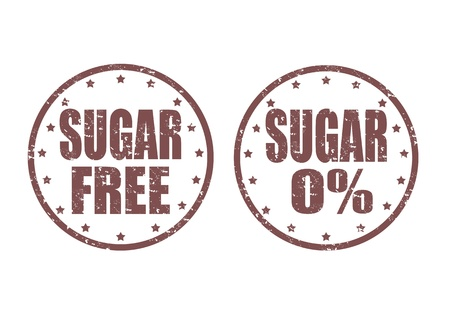 healty: Set of grunge rubber stamps with word sugar inside, illustration Illustration