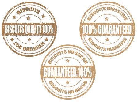 stamper: Set of grunge rubber stamps with word biscuits inside,vector illustration