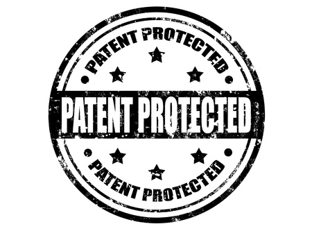 patent: Grunge rubber stamp with text patent protected  inside,vector illustration