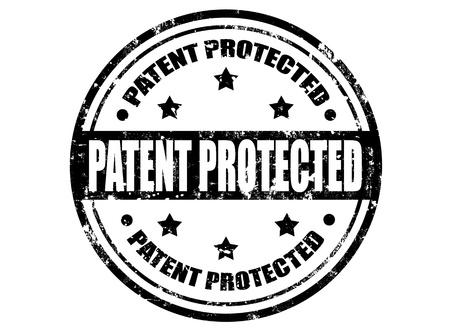patente: Grunge sello de goma con patente protegida en el interior de texto, ilustraci�n vectorial Vectores
