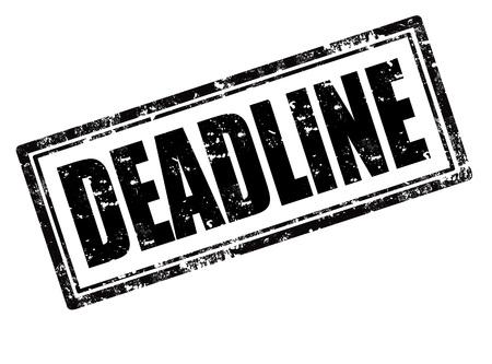govern: Deadline black rubber stamp over a white background