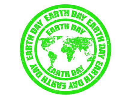 Grunge rubber earth day stamp,vector illustration Stock Vector - 18796164