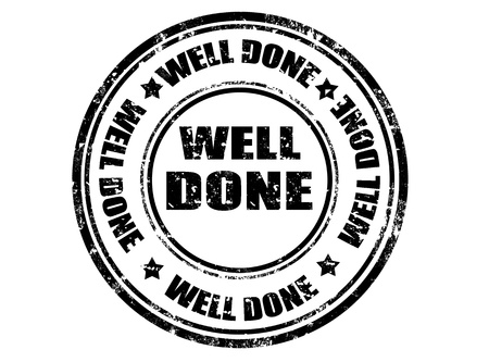 Grunge rubber stamp with text well done inside,vector illustration Vettoriali
