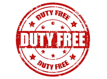 duty free: Grunge rubber stamp with text duty free inside,vector illustration