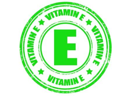 Tampon en caoutchouc grunge avec le texte à l'intérieur de la vitamine E, l'illustration vectorielle