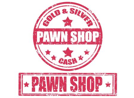 pawn shop: Set of grunge stamps with text pawn shop inside,vector illustration Illustration