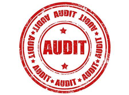 internal revenue service: Grunge rubber stamp with word audit inside,illustration