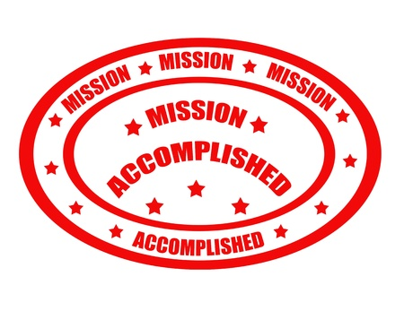 accomplishments: Mission Accomplished grunge rubber stamps, vector illustration