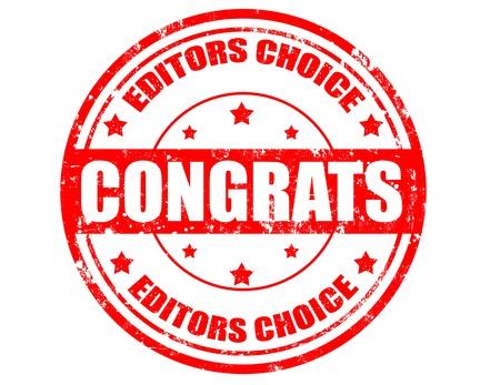 permit: Grunge stamp, editors choice concept