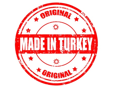 Grunge rubber stamp with text made inTurkey,vector illustration Stock Vector - 20304707