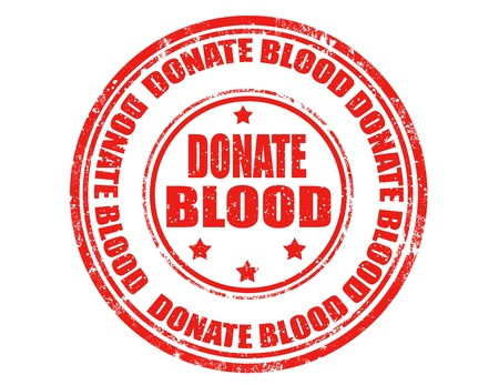 inoculation: Grunge rubber stamp with text donate blood inside,vector illustration
