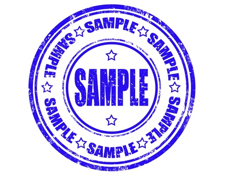 Grunge rubber stamp with word sample inside,vector illustration Stock Vector - 20304736