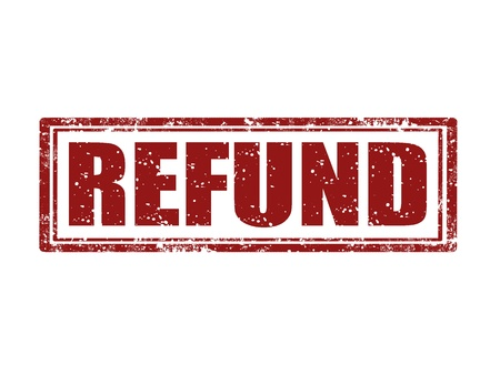 repayment: Grunge rubber stamp with word refund inside