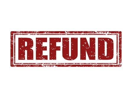 remuneraci�n: Grunge sello de goma con reembolso palabra dentro