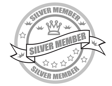 Silver member stamp Stock Vector - 20593419