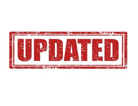 updated: Grunge sello de goma con la palabra Actualizado el interior Vectores