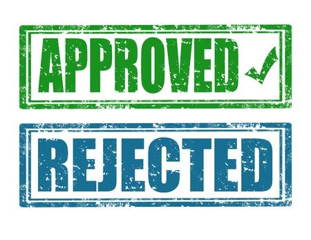 canceled: Set of approval grunge rubber stamps Illustration