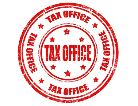 tax office: Grunge rubber stamp with text tax office inside