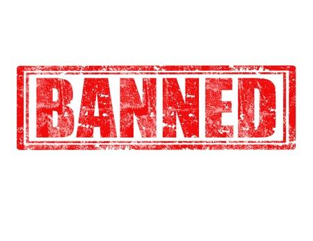 narcótico: Carimbo de borracha de Grunge com palavra proibida dentro Ilustração