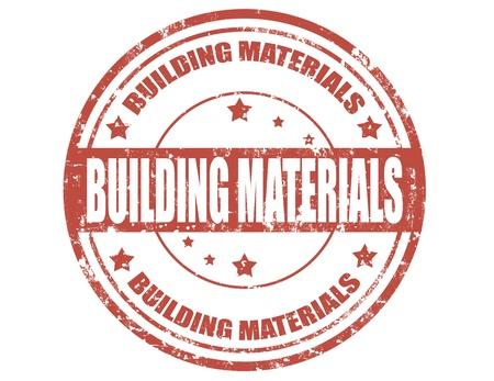 materiali edili: Grunge timbro di gomma con i materiali da costruzione del testo, illustrazione vettoriale Vettoriali