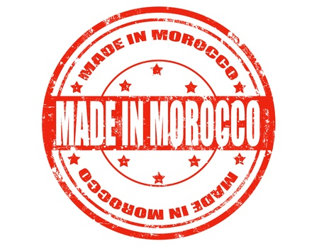 made in morocco: Grunge rubber stamp with text Made in Morocco,vector illustration