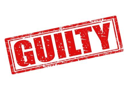 accuser: Tampon en caoutchouc grunge avec le mot coupable � l'int�rieur Illustration