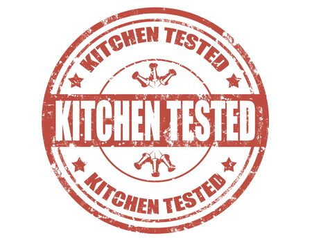 Grunge rubber stamp with text Kitchen tested Stock Vector - 21222038