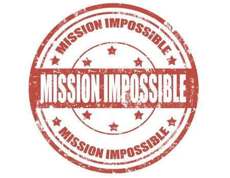 daremny: Grunge stempel tekstu niemożliwej misji