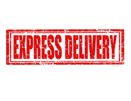 express delivery: Grunge rubber stamp with text Express delivery