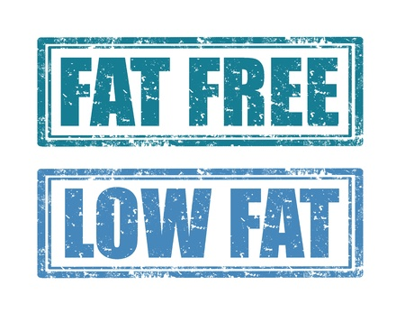 Set of grunge rubber stamps with text Fat free and Low fat Stock Vector - 21222057
