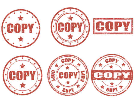 replica: Set of grunge rubber stamp with word Copy inside Illustration