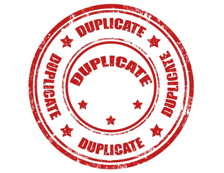 duplicate: Grunge rubber stamp with word Duplicate inside