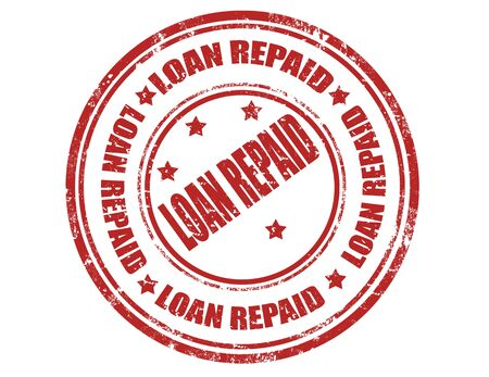 Grunge rubber stamp with text Loan repaid Vector