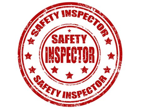 inspector: Grunge rubber stamp with text Safety inspector