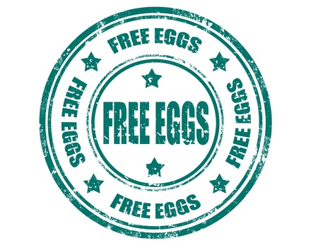 Grunge rubber stamp with text Free eggs inside, illustration Stock Vector - 21260289