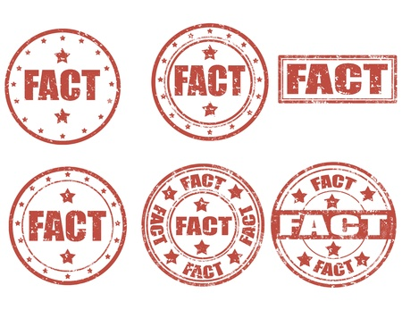 fact: Set of grunge rubber stamp with word Fact inside, illustration