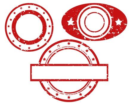 Set of grunge rubber stamps, illustration Stock Vector - 21260453