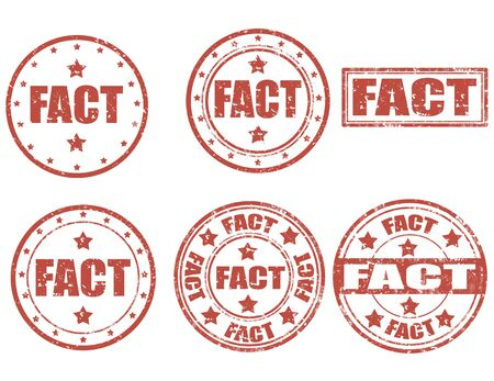 in fact: Set of grunge rubber stamp with word Fact inside,vector illustration