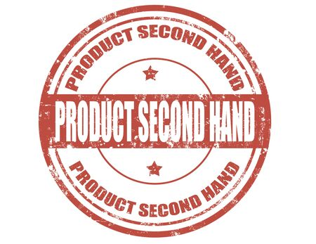second hand: Grunge rubber stamp with text Product second hand,vector illustration