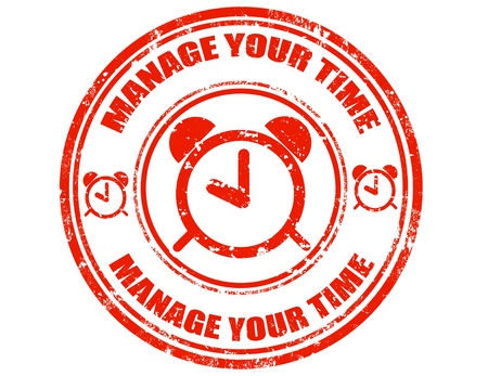manage: Grunge rubber stamp with text Manage your time,vector illustration