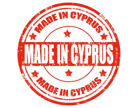 Grunge rubber stamp with text Made in Cyprus,vector illustration Vector