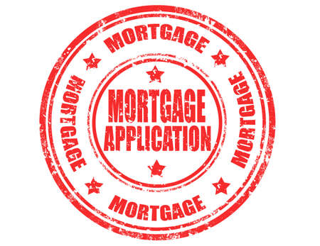 aplication: Grunge rubber stamp with text Mortgage application,vector illustration Illustration